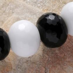 Schwarz Weiß Steinperlen...